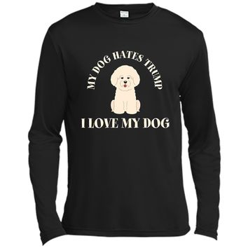 Funny Anti-Trump T-Shirt My Dog Hates Trump - I Love My Dog