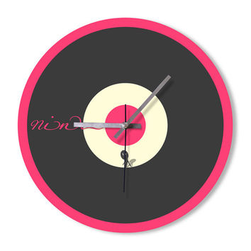 Wall Clock pink black colorful clock home decoration wall art children's room clock bedroom living room office clock snowbald