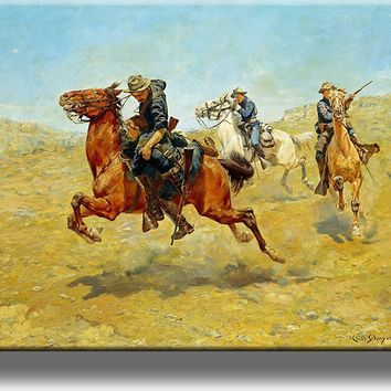 My Bunkie by Charles Schreyvogel Cowboy Picture on Acrylic , Wall Art Décor, Ready to Hang!