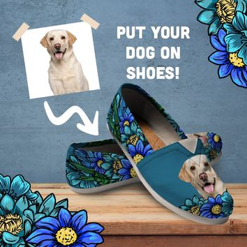 Custom Dog Portrait Casual Shoes