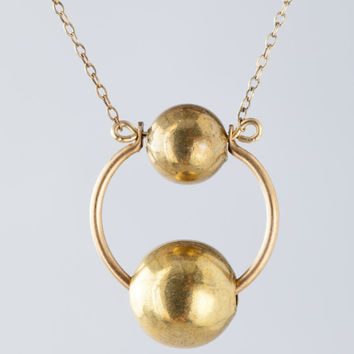 """Laura Lombardi 20"""" Ceres Necklace in Brass"""