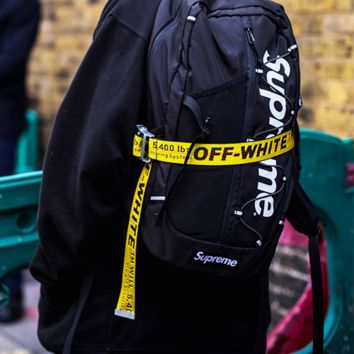 OFF-WHITE Tide brand wild men and women canvas belt Yellow