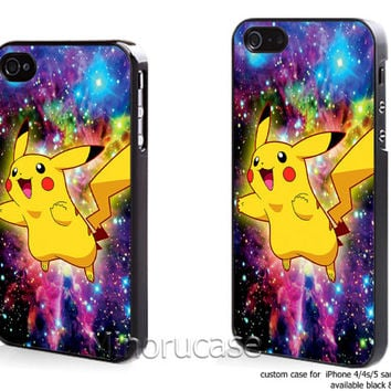 pikachu pokemon Custom case For iphone 4/4s,iphone 5,Samsung Galaxy S3,Samsung Galaxy S4 by minorucase on etsy