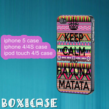 Aztec Hakuna Matata---iphone 4 case,iphone 5 case,ipod touch 4 case,ipod touch 5 case,in plastic,silicone and black,white.