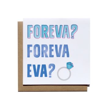 Forever Ever Congratulations Card