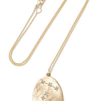 Brooke Gregson - Scorpio 14-karat gold diamond necklace