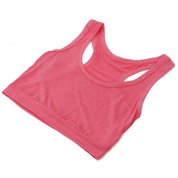 Womens Cotton Cropped Tops Chest Sports Bra Tube Top Semi Womens  Breathable Yoga Sports Vest