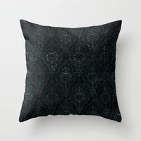 Victorian Onyx Throw Pillow by Dvdesign