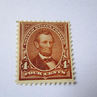 Collectible US Stamp 1898 4 Cents Abraham Lincoln Unused Mint Hinged Original Gum Scott 280 Collect Buy Old American Stamps Collector Gift