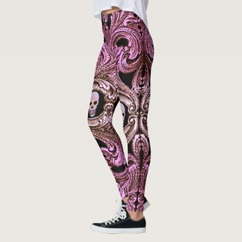 Goth Pink Ornament with Skull Leggings