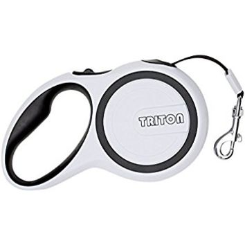 Triton Retractable Dog Leash. Lifetime Replacement Guarantee. Retracts 0-16ft.
