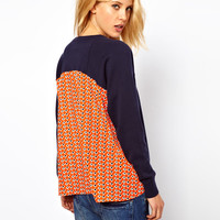 ASOS Jumper With Woven Back