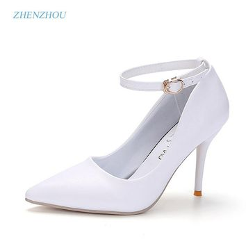 zhen zhou 2017 spring and autumn women's new fashion trend leadership Sexy heels Night club Light mouth single shoes Fine point