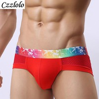 Designed Low Waist Sexy Men Underwear Briefs Gay Penis Pouch  Mens Bikini Brief