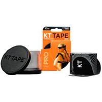 KT TAPE PRO Synthetic Elastic Kinesiology 20 Pre-Cut 10-Inch Strips Therapeutic Tape, Jet Black