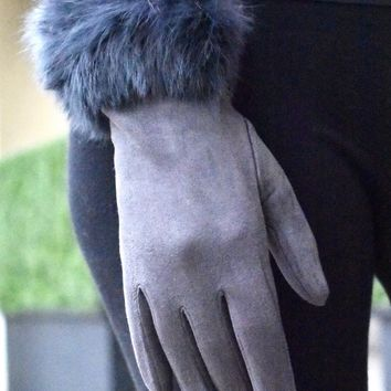 Faux Fur Wrist Glove