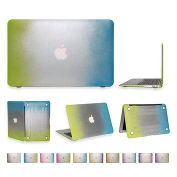 For MacBook Air 11 13 Matte Rainbow Hard Protector Case Pro 13 15 Retina 12 13 15 inch silicone Keyboard Cover 3 in 1