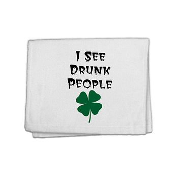 """I See Drunk People Funny 11""""x18"""" Dish Fingertip Towel by TooLoud"""