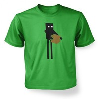 Kids Tshirts PP - Enderman Inspired By Minecraft Kids T-Shirt Medium Irish Green