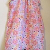 Clearance - Pink Modern Print Party Dress, Spring, Summer, Birthday - Suggested Size 10 - 12