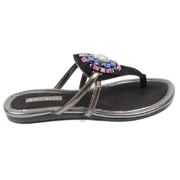 Black 5.5 US - 36 EUR Nine West Womens Flat Sandal NWWEYLIN BLACK BLK