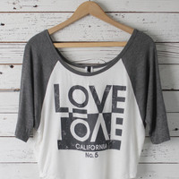Love Cali Crop Tee