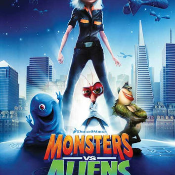 Monsters vs. Aliens 11x17 Movie Poster (2009)