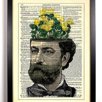 Flowers On The Mind Upcycled Dictionary Art Vintage Book Print Recycled Vintage Dictionary Page Buy 2 Get 1 FREE