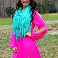 Fringe Eternity Scarf - Mint