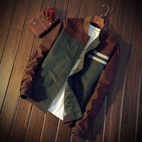 Green/Brown Combo Style Jacket