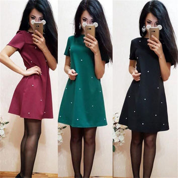 6266332464a New Arrival 2017 Women s Fashion Sexy Short Sleeved Dress Ukraine Style  Ladies Party Dresses Kimono Cheap