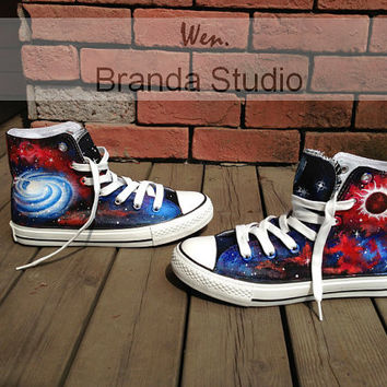 New-Galaxy Shoes,Galaxy Converse,Hand Paint On Custom Converse Only 89Usd,Studio Hand Painted Shoes 51.99Usd,Buy One Get One Phone Case Free