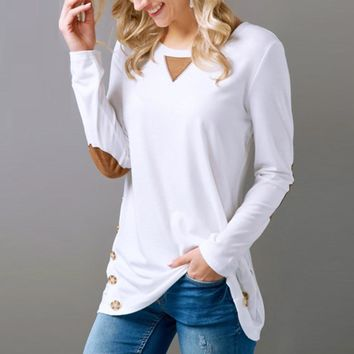 Casual Long Sleeve Round Neck, Sweatshirt Pullover
