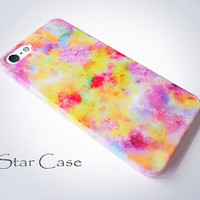 iPhone 4/ 4s and 5 Case  Watercolor Splashes Pastel by STARCASE