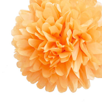 "Peach 1 tissue paper pom pom  18""  // diy wedding // wedding decor // birthday // reception // tea party"