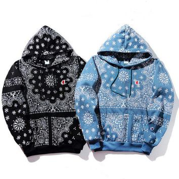 One-nice™ Champion Women Ethnic Snowflake Print Hoodie Cute Top Sweater