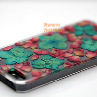 Pressed flower iPhone Case , iPhone 5 Case , Flower iPhone 4s case , wood iphone 4 case ,iPhone Case iPhone 6 plus Case iPhone 6 Cases