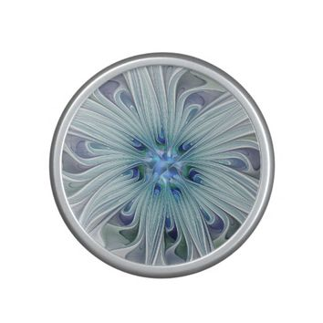 Floral Beauty Abstract Modern Blue Pastel Flower Bluetooth Speaker