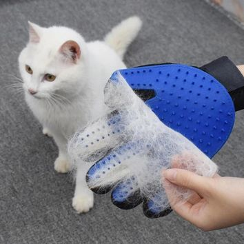 Pet Cat Grooming Glove For Cats Dog Hair Deshedding Brush Comb Glove For Pet Dog Finger Cleaning Massage Glove For Animal