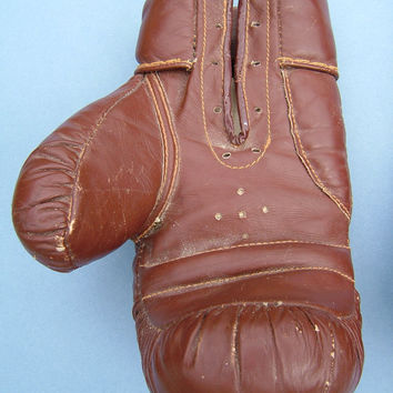 1960s Pair of Sportlife Leather 7 Ounce Boys Boxing Gloves