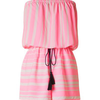 Must Be Me Romper - Bright Pink