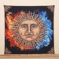 Indian Mandala Wall Hanging Tapestry 145x145cm Bohemian Bedspread Throw Blanket Dorm Cover Home Room Wall Decorative Textiles