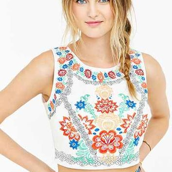Glamorous Embroidered Tank Top - Urban Outfitters