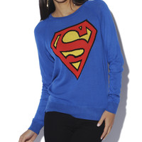 Superman Fine Gauge Sweater  | Shop Sweaters at Wet Seal