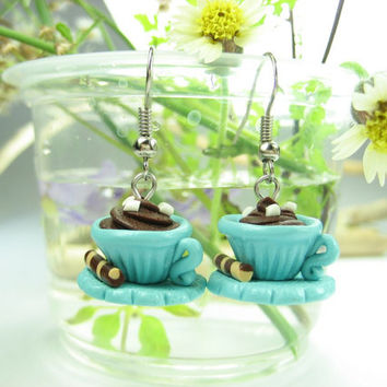 Hot Chocolate Cup Earrings
