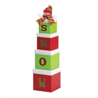 "Festive Snowman ""SNOW"" Gift Boxes Set"