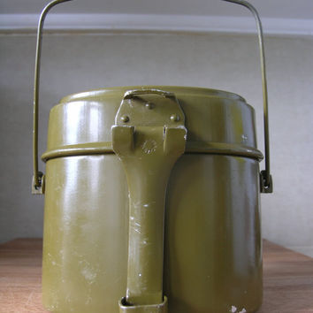 Vintage Soviet Soldier Aluminium Mess Kit Food Kettle. URSS Army.