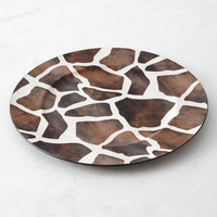 Four Giraffe Charger Plates