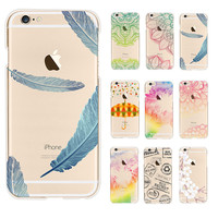 utterfly phone case Umbrellas color pattern Cases for Apple iphone 6 6S /Plus Cover Clutch coque Capa Para Celular