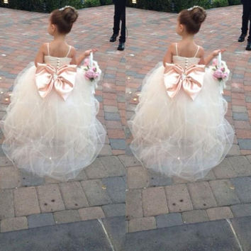 2016 Ball Gown Holy Communion Dresses Girls Pageant Dresses Vestidos De Primera Comunion Flower Girl Dresses